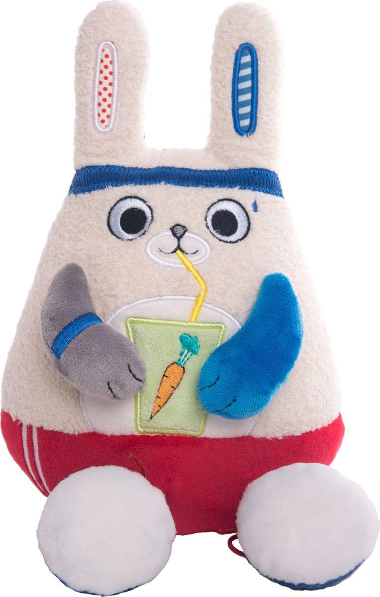 """Мягкая игрушка Gulliver Кофейная """"Заяц-энергетик"""", 51-T78047A1, 15 см"""