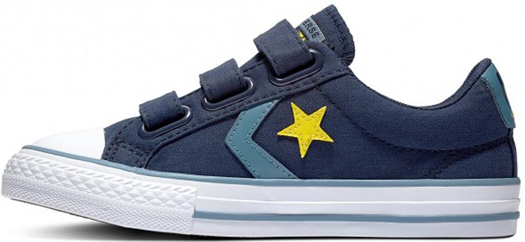 Кроссовки детские Converse, цвет: синий. 663600. Размер 33663600