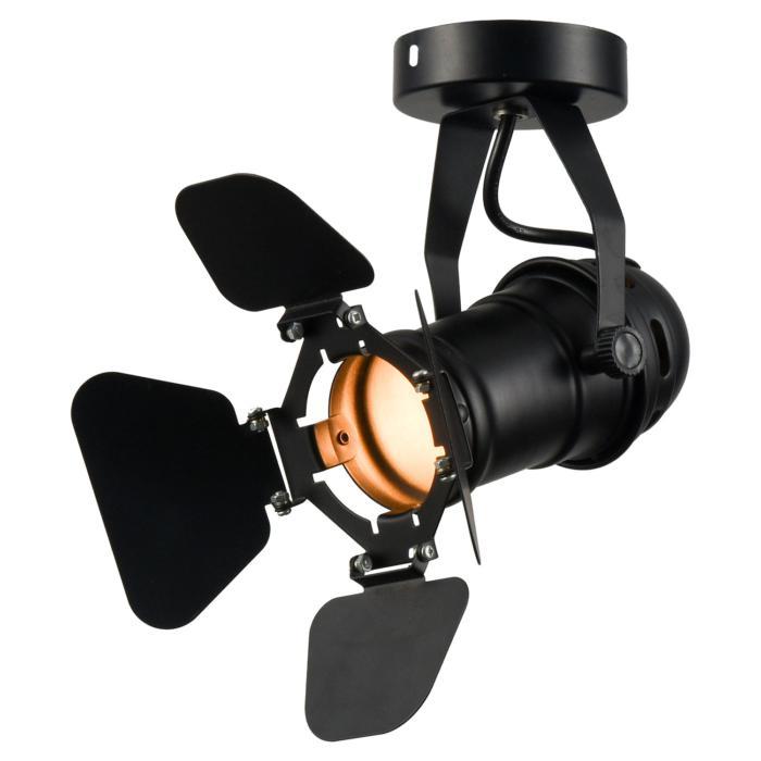Настенно-потолочный светильник Lussole LSP-9838, черный спот lussole loft expression lsp 9838