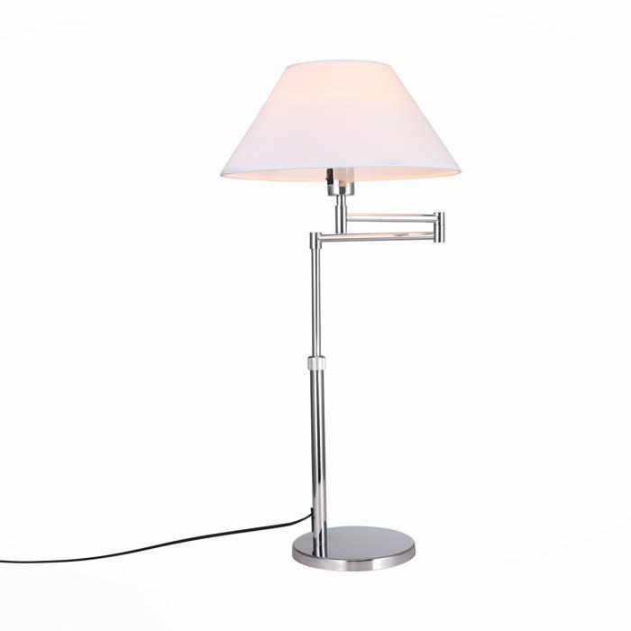 Настольный светильник St Luce SL461.104.01, серый металлик лампа настольная декоративная st luce mossa sl461 104 01