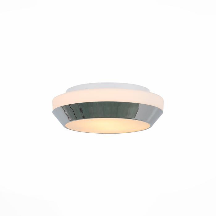 Настенно-потолочный светильник St Luce SL469.502.02, белыйSL469.502.02Тарелка St Luce SL469.502.02 серии Bagno в стиле хай-тек оживит ваш интерьер. Размеры (Диаметр х Высота) 320х90 мм.