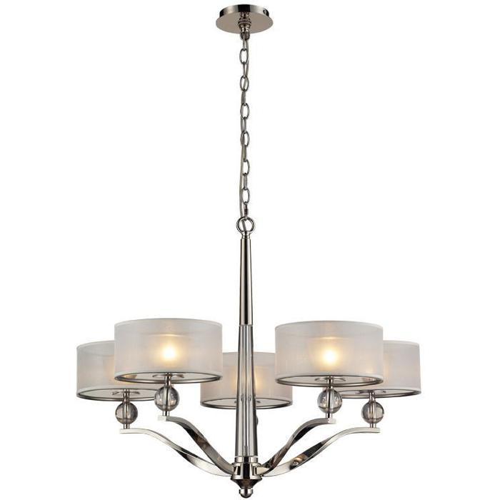 Подвесной светильник Vele Luce VL1133L05, серый металлик vele luce vl1133l05