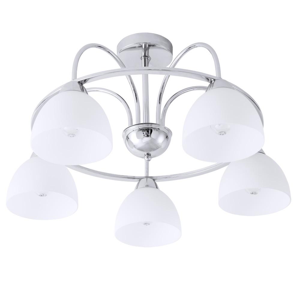 Потолочный светильник Arte Lamp A6057PL-5CC, серый металликA6057PL-5CCПотолочный светильник Arte Lamp A6057PL-5CC серии Palermo в современном стиле оживит ваш интерьер. Размеры (ДхШхВ) 600х600х330 мм.
