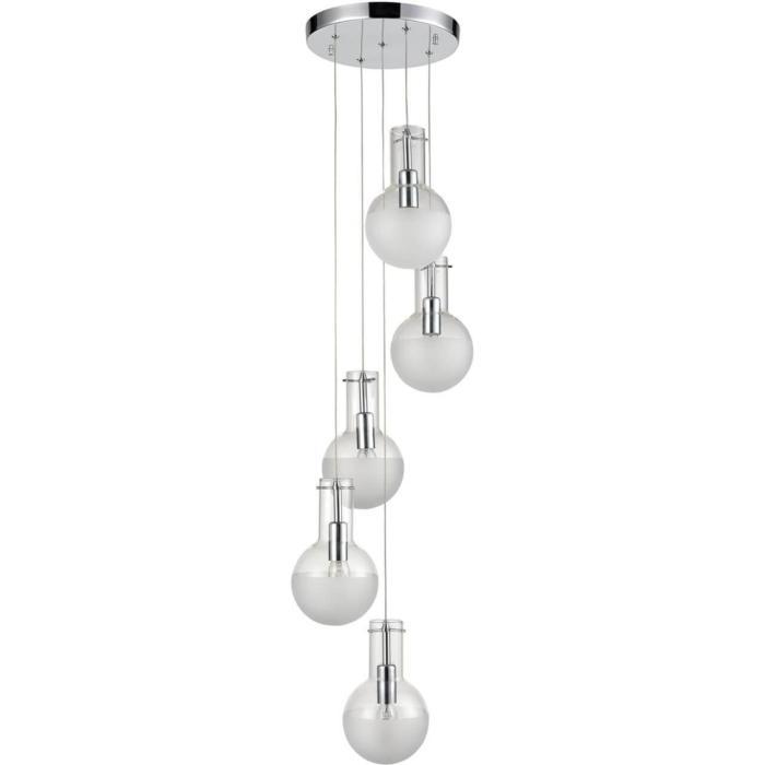Подвесной светильник Vele Luce VL1913P05, серый металликVL1913P05Подвесной светильник Vele Luce VL1913P05 серии Cesare в современном стиле создаст в помещении атмосферу комфорта. Размеры (Диаметр х Высота) 250х1200 мм.