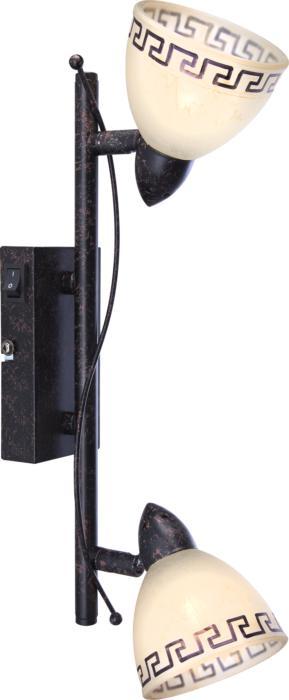 Настенно-потолочный светильник Globo New 5684-2, коричневый спот globo 5684 2