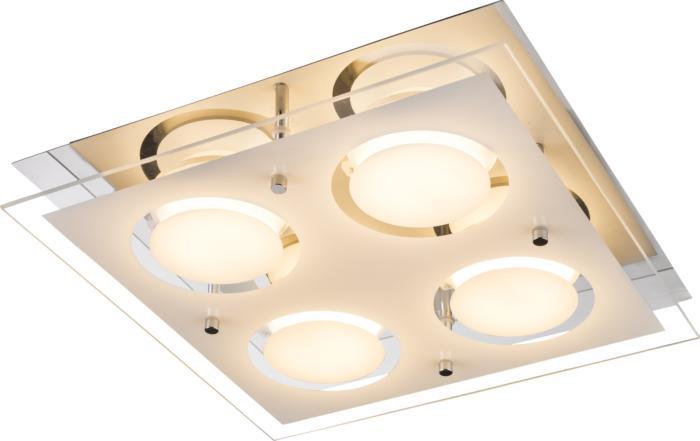 Потолочный светильник Globo New 49236-4, серый металлик49236-4Потолочный светильник Globo 49236-4 серии Ricky в современном стиле даст комфортный свет в комнате.