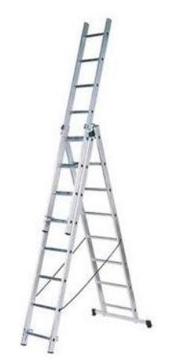 Стремянка Вихрь ЛА 3х7, трехсекционная лестница трехсекционная вихрь ла 3х12