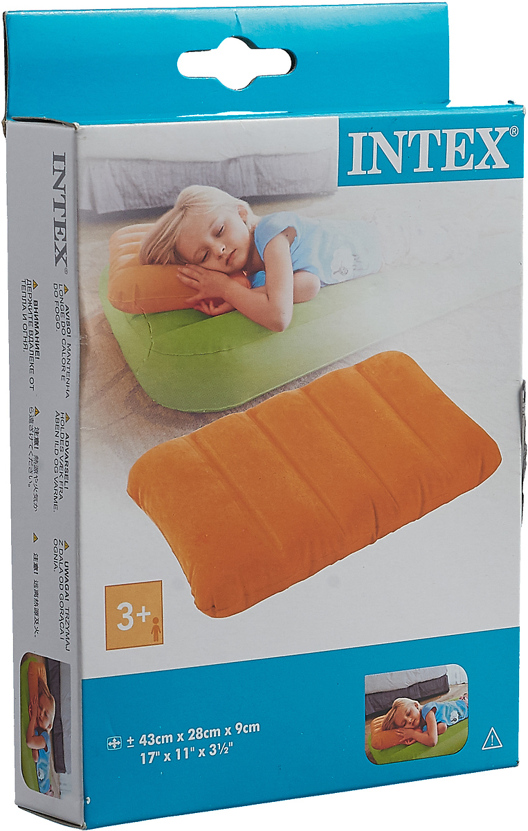 Подушка для туризма Intex Kidz, 68676NP, надувная, для детей, от 3 лет, 43 х 28 х 9 см/, цвет: в ассортименте