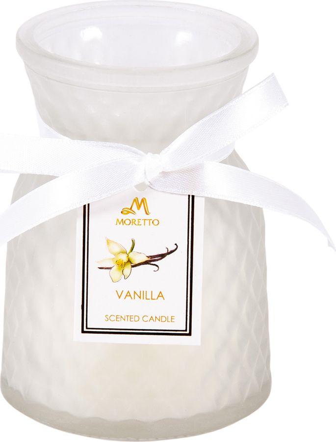 Ароматизированные свечи Moretto Ваниль, розовый, 8 х 8 х 11 см свеча ароматическая chamelion ваниль 8 2 см