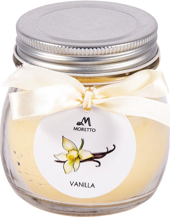 Ароматизированные свечи Moretto Ваниль, бежевый, 8 х 8 х 9 см свеча ароматическая chamelion ваниль 8 2 см
