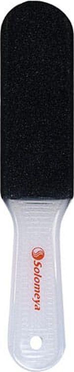 Терка педикюрная Solomeya, двухсторонняя, 60 грит терка для ног деревянная основа двухсторонняя solinberg ширина 60 мм
