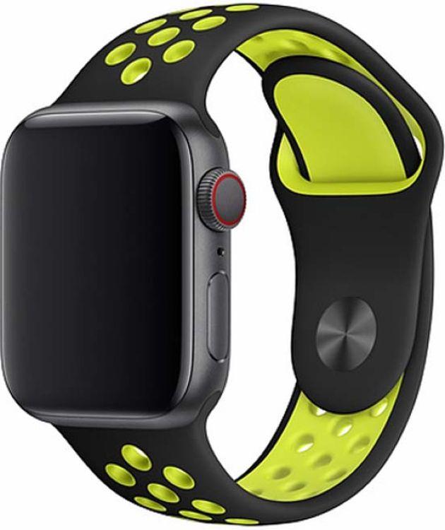 Ремешок для смарт-часов Devia Deluxe Sport 2 для Apple Watch 4 40 мм, желтый аксессуар ремешок gurdini sport silicone для apple watch 42mm dark teal 906173