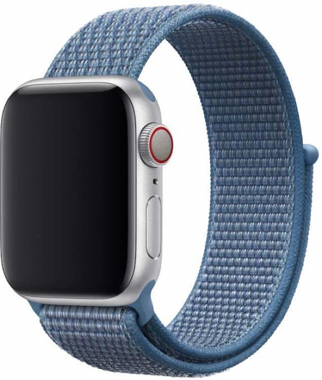 Ремешок для смарт-часов Devia Deluxe Sport 3 для Apple Watch 4 40 мм, голубой ремешок для смарт часов devia deluxe sport 3 для apple watch 4 40 мм черный
