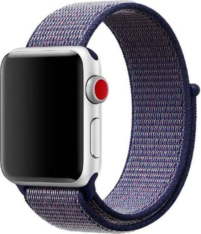 Ремешок для смарт-часов Devia Deluxe Sport 3 для Apple Watch 4 40 мм, темно-синий ремешок для смарт часов devia deluxe sport 3 для apple watch 4 40 мм черный
