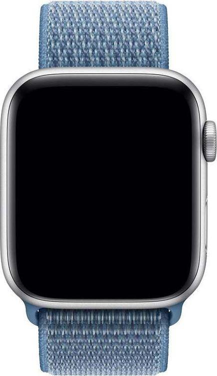 Ремешок для смарт-часов Devia Deluxe Sport 3 для Apple Watch 4 44 мм, голубой ремешок для смарт часов devia deluxe sport 3 для apple watch 4 40 мм черный