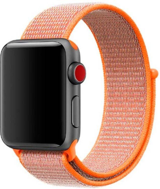 Ремешок для смарт-часов Devia Deluxe Sport 3 для Apple Watch 4 44 мм, оранжевый ремешок для смарт часов devia deluxe sport 3 для apple watch 4 40 мм черный