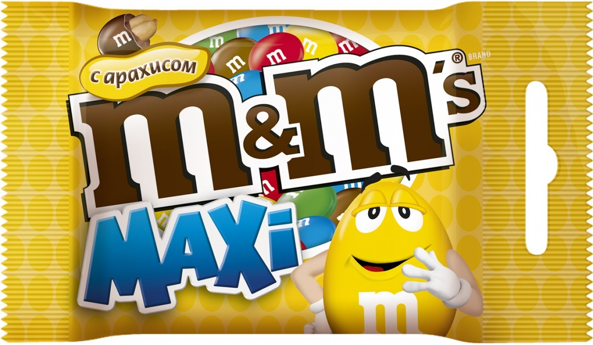 M&M's Драже с арахисом, 70 г драже m