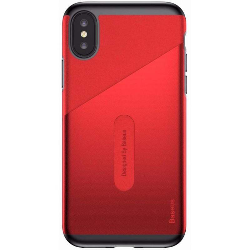 Чехол для сотового телефона Baseus WIAPIPHX-KA09, красный flower print card case