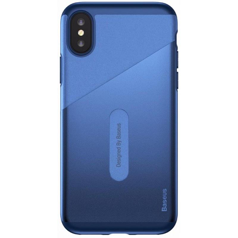 Чехол для сотового телефона Baseus WIAPIPHX-KA15, темно-синий flower print card case