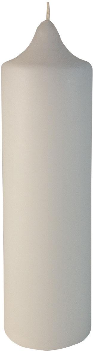Свеча декоративная Мир свечей Столбик, 53-40/120, белый, 4 х 12 см свеча декоративная proffi шар цвет белый диаметр 7 5 см