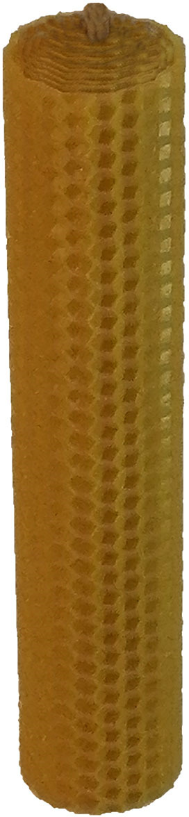 Свеча декоративная Мир свечей Башенка-Соты, из пчелиного воска, 35-31, светло-коричневый, 3,5 х 18 свеча из воска