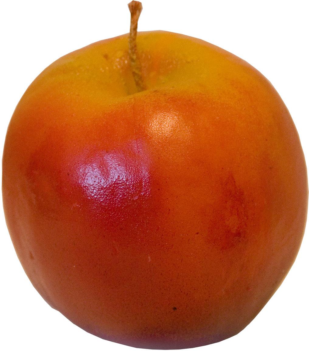 Свеча-сувенир декоративная Мир свечей Яблоко, 57-31, красный, 8 х 8 х 8 см сувенир яблоко из оникса значение