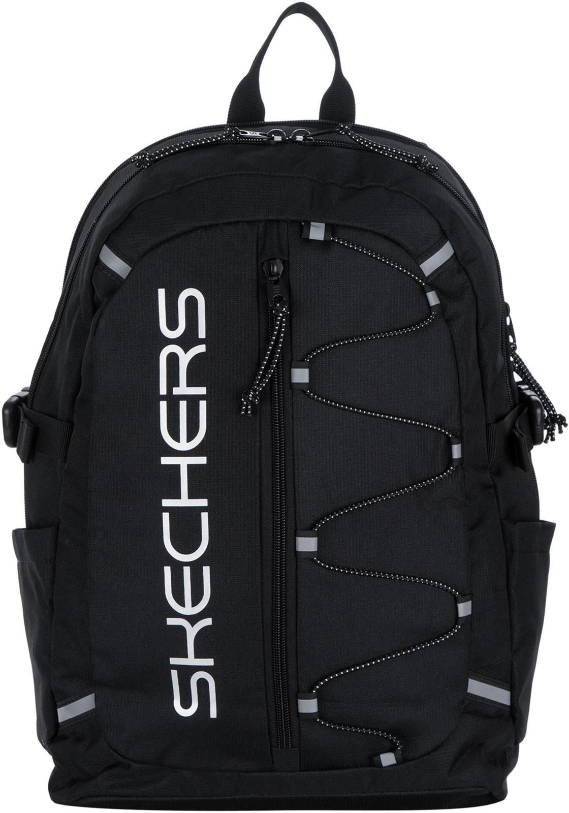Рюкзак мужской Skechers Backpack, S735-99, черный рюкзак спортивный мужской adidas цвет синий dm7680