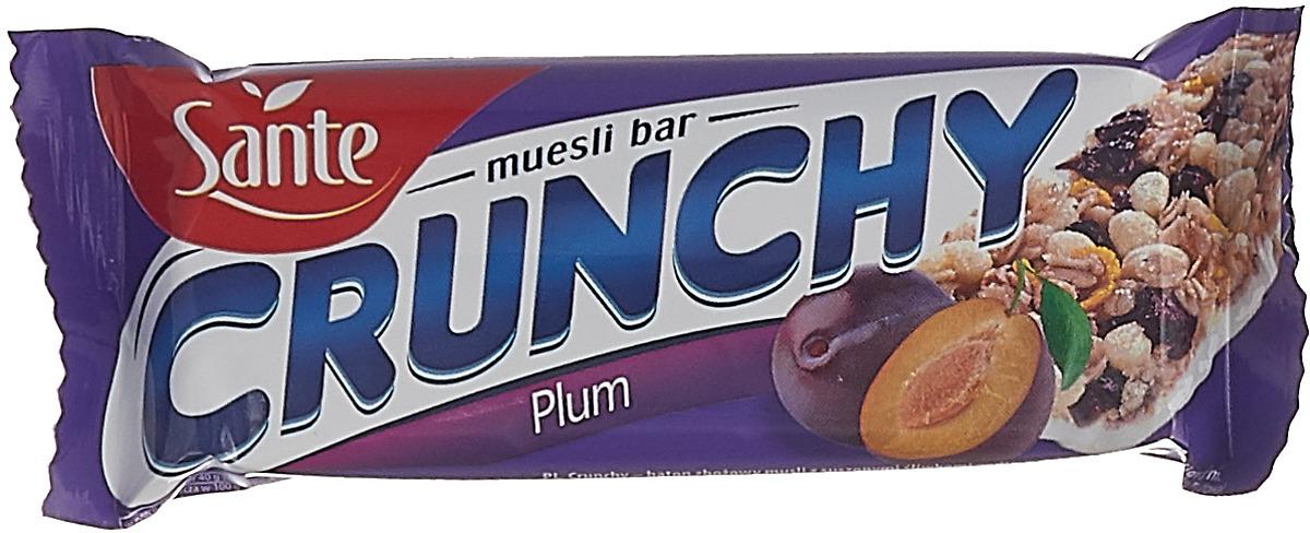 Sante Crunchy батончикмюслисосливойвванильной глазури, 40 г цена в Москве и Питере