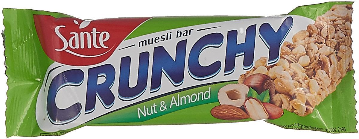 Sante Crunchy батончикмюслисорехами,35г цена в Москве и Питере