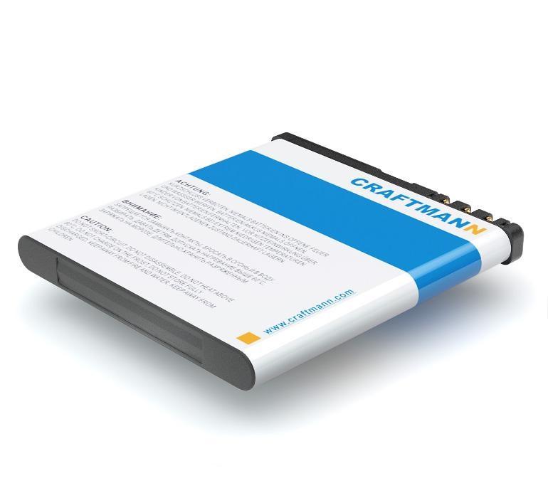 Аккумулятор для телефона Craftmann BL-5K для Nokia N85, 701, C7-00, N86, N86 8MP, Oro, X7, X7-00, Explay Q230, Q231, Q232, Q233
