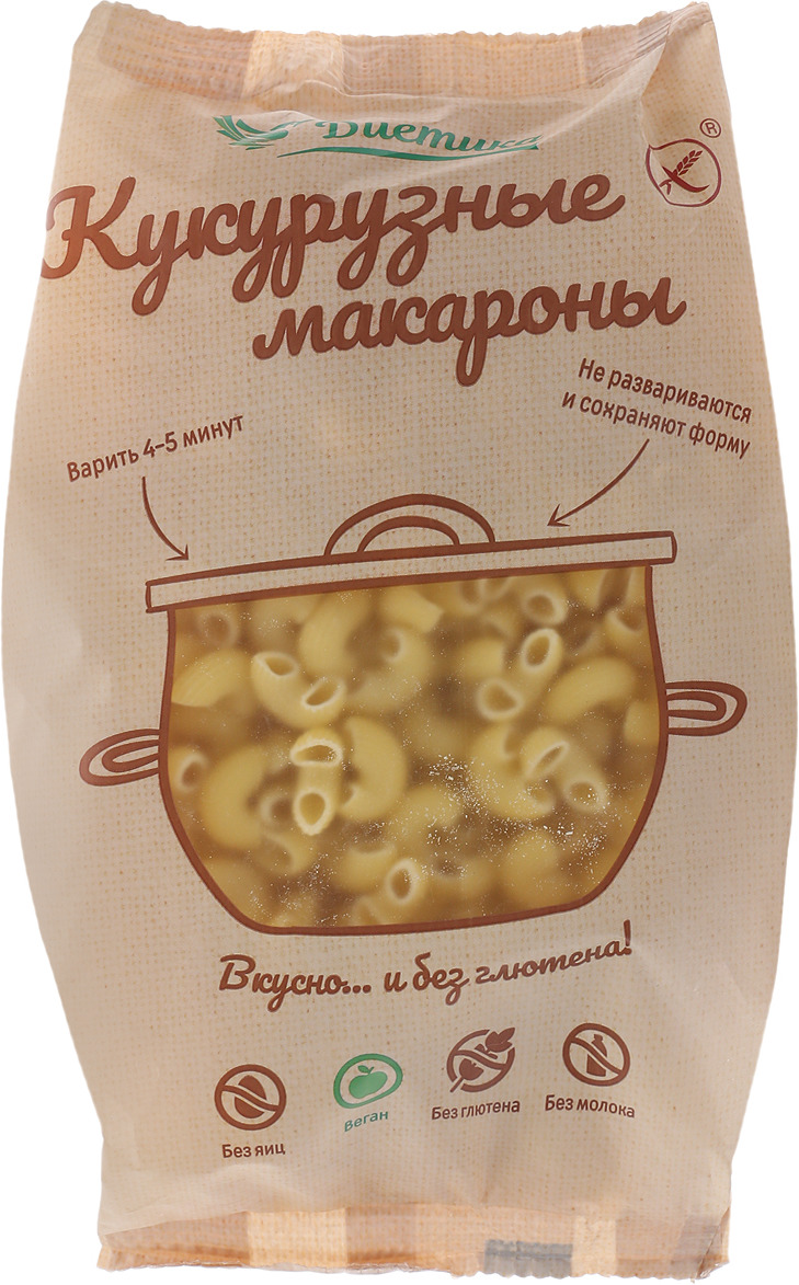 Диетика Рожок большой кукурузный, 300 г