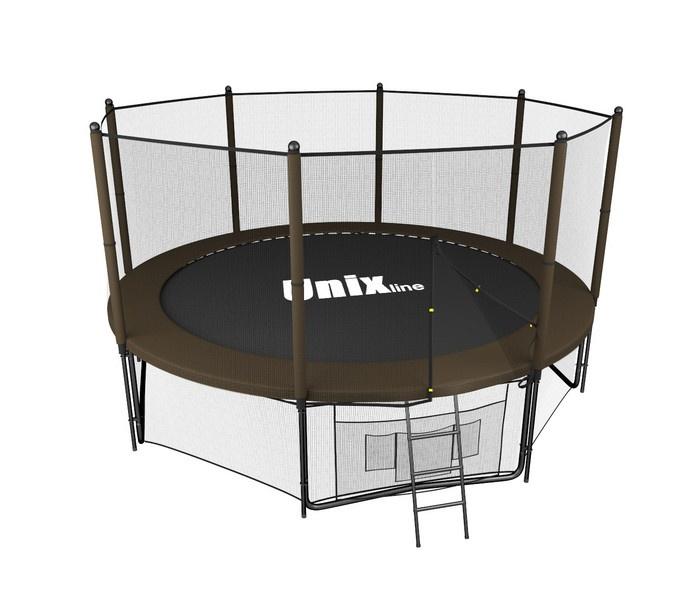 Батут UNIX Line 8 ft Black Brown (outside) коричневый