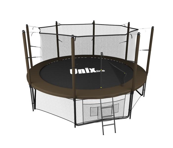 Батут UNIX Line 8 ft Black Brown (inside) коричневый