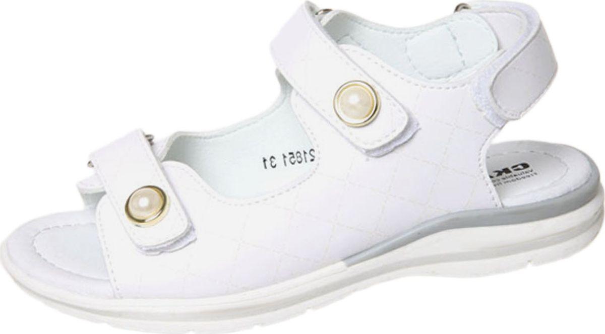 Сандалии для девочки Сказка, цвет: белый. R752121851. Размер 37R752121851