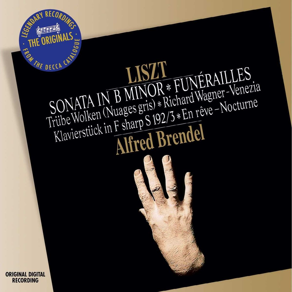 Alfred Brendel. Liszt: Sonata недорго, оригинальная цена