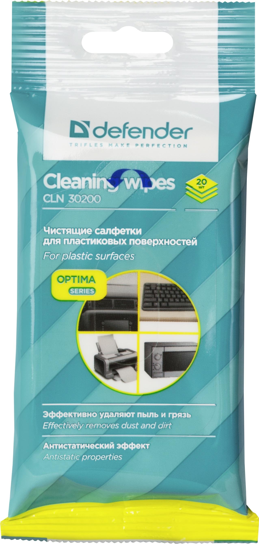 Салфетки для поверхностей Defender CLN 30200 Optima 20 шт,пакет с подвесом Defender