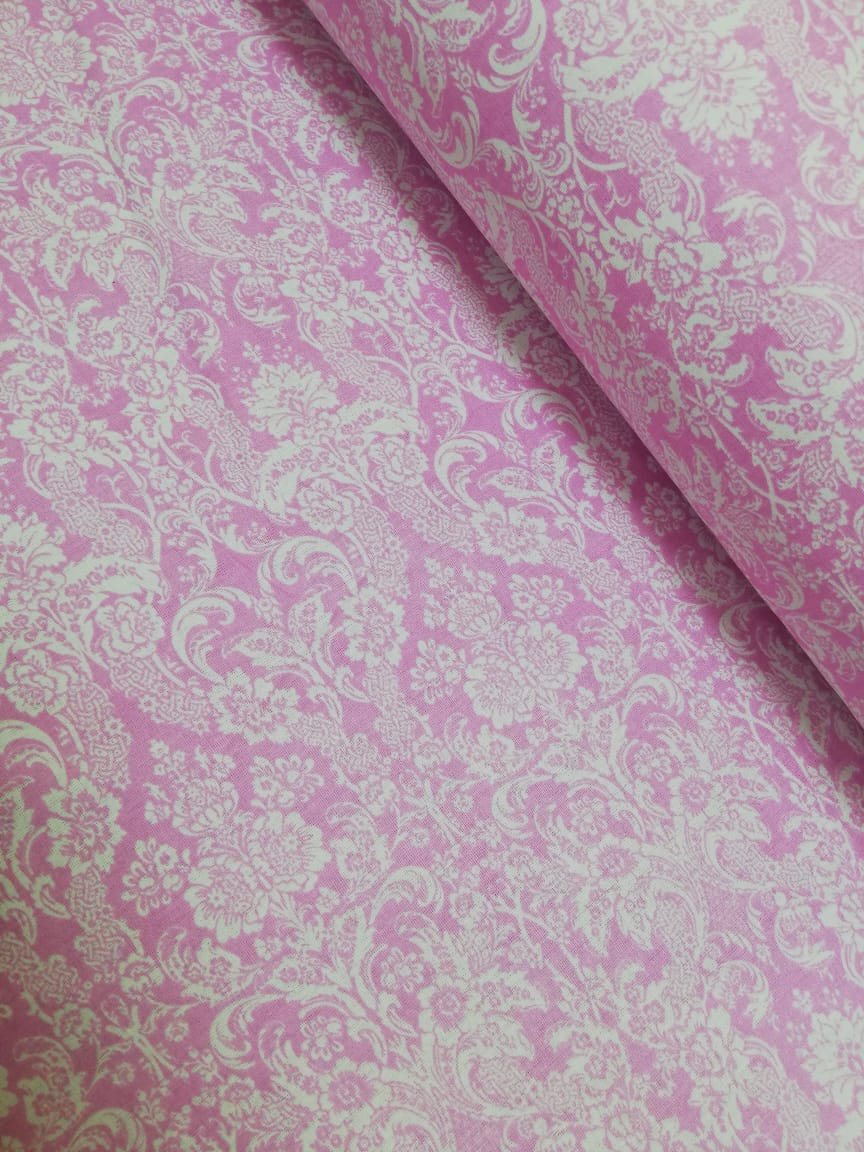 Ткань Vebertex дамаск на розовом ткань vebertex дамаск мятный