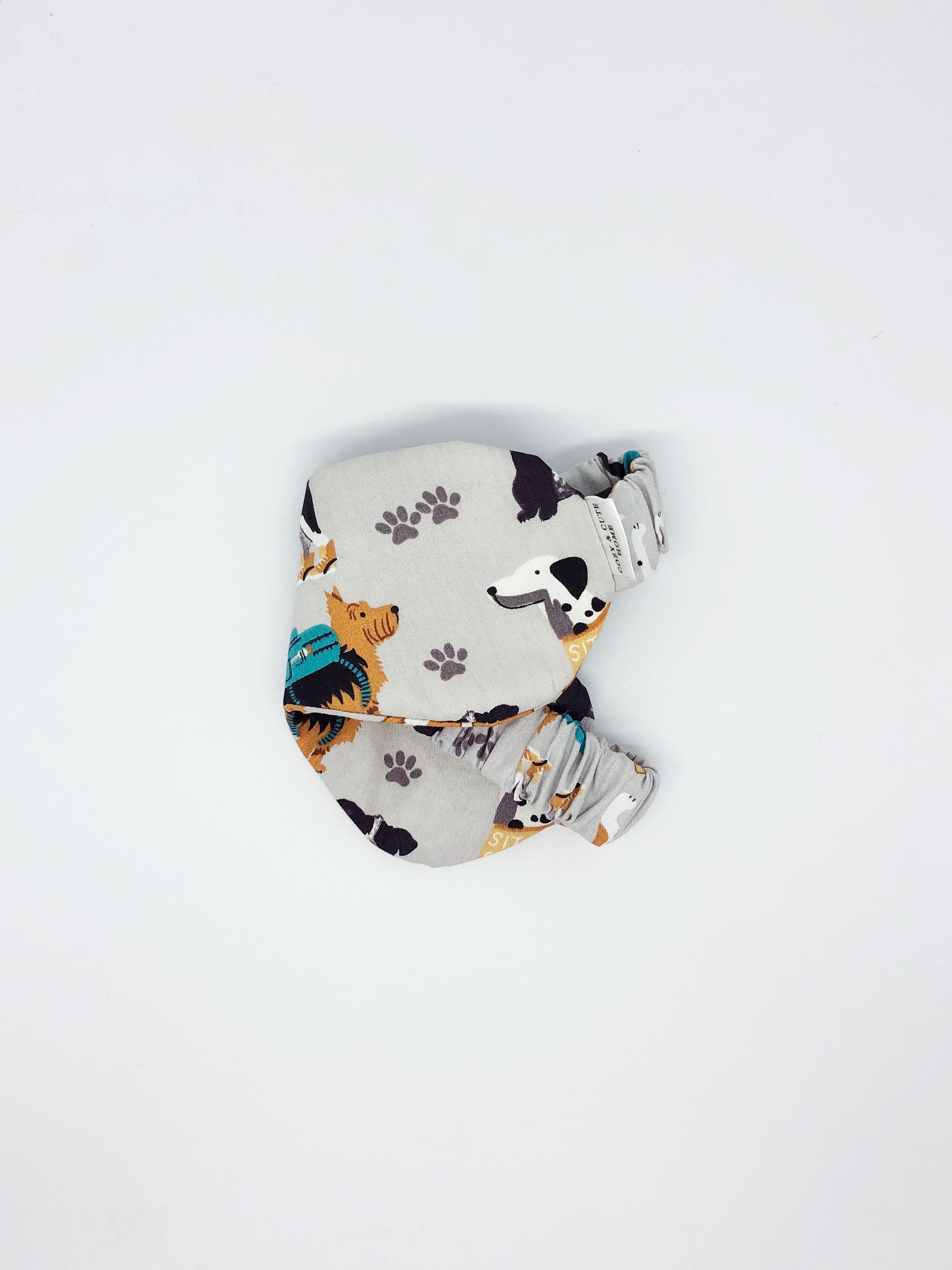 Маска для сна Cozy&Cute Home Собачки на сером, серый, коричневый