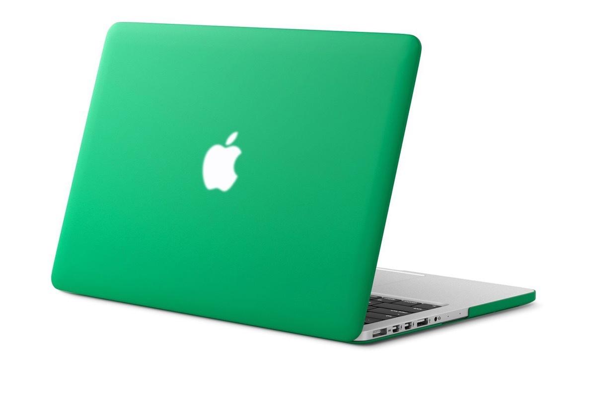 Чехол для ноутбука Gurdini накладка пластик матовый 220068 MacBook Pro 15 2008-2012, зеленый