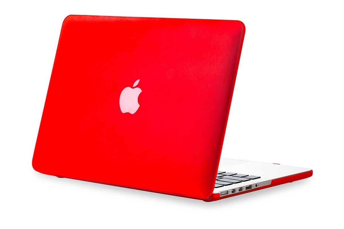 """Чехол для ноутбука Gurdini накладка пластик матовый 220048 для MacBook Pro 15"""" 2008-2012, красный"""