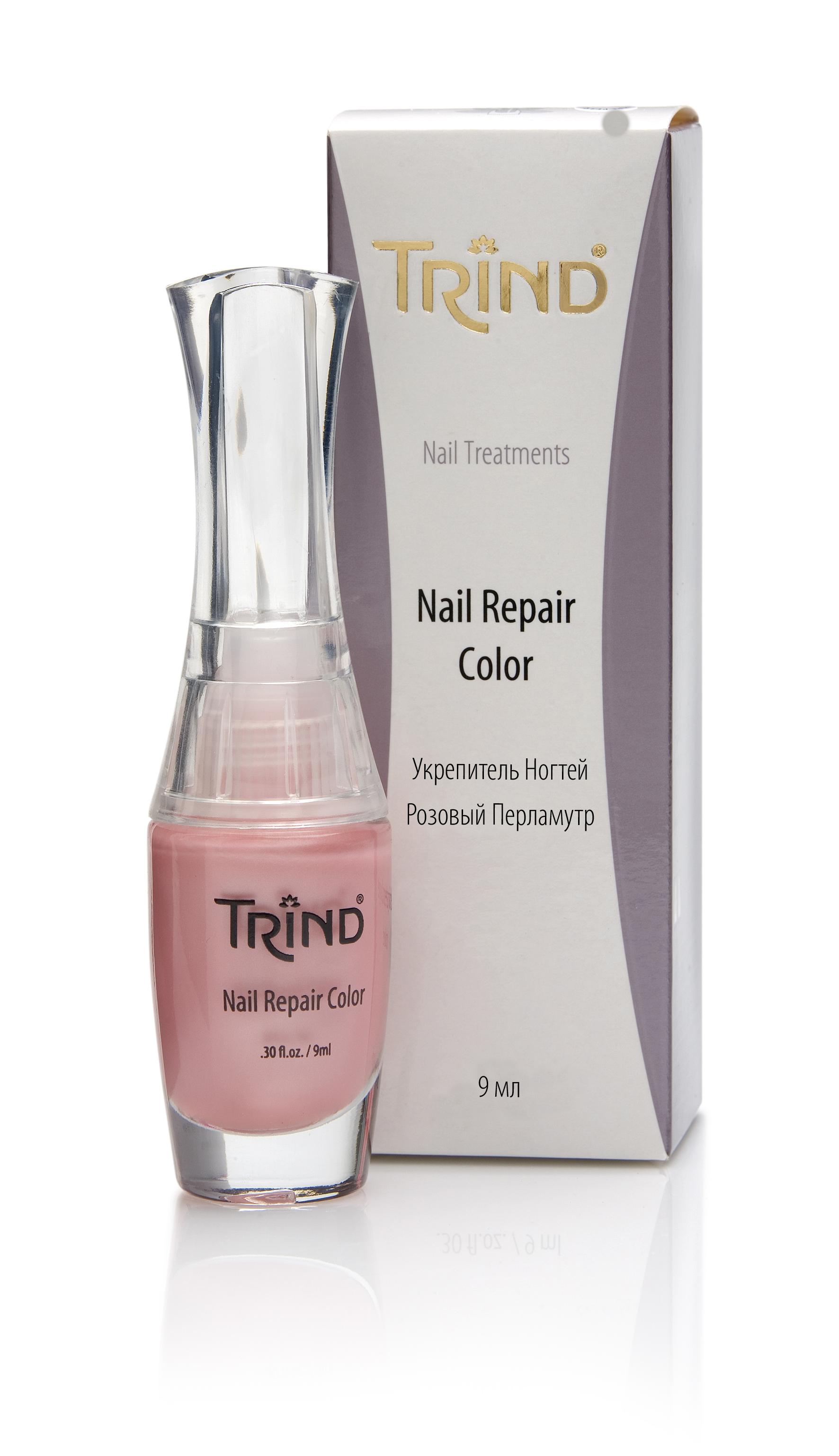 Nail Repair Pink Pearl Укрепитель для ногтей розовый перламутр TRIND недорого
