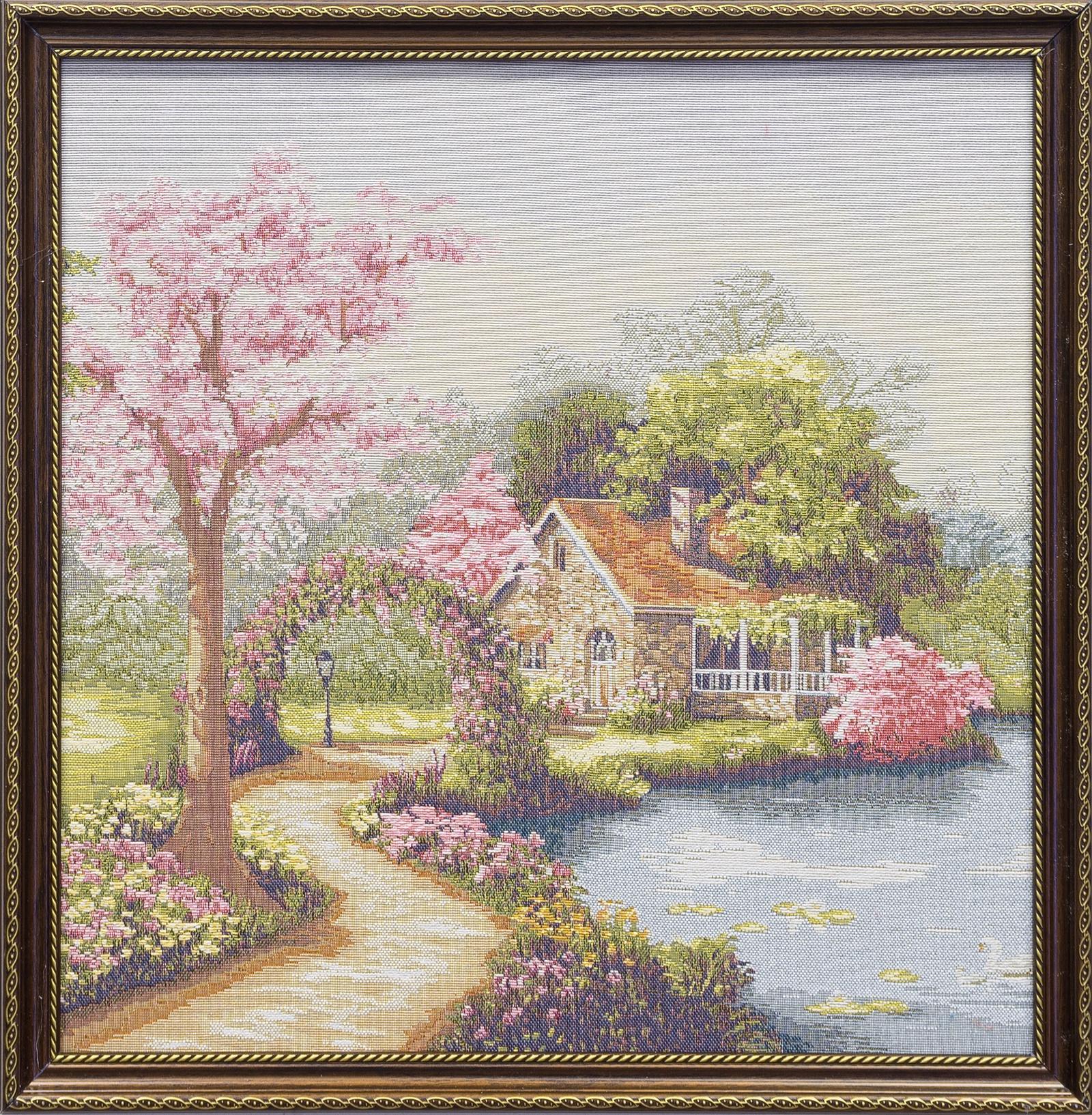 Фото - Гобелен картина интерьерная Магазин гобеленов Розовые грезы 48 на 48 см гобелен картина интерьерная магазин гобеленов букет роз бордюр 65 на 85 см