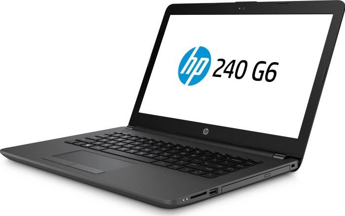 Ноутбук HP 240 G6, 4QX59EA, 14, темно-серый ноутбук hp 250 g6 dark ash silver 5pp07ea intel core i3 7020u 2 3 ghz 4096mb 128gb ssd dvd rw intel hd graphics wi fi bluetooth cam 15 6 1920x1080 dos