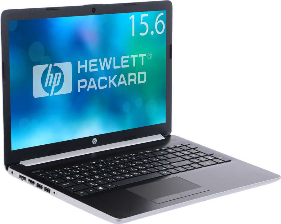 Ноутбук HP 15-da0195ur 15.6 4AZ41EA, серебристый ноутбук hp pavilion 15 cs0023ur 4ju98ea core i5 8250u 4gb 1tb 16gb optane nv mx150 2gb 15 6 fullhd win10 rose gold