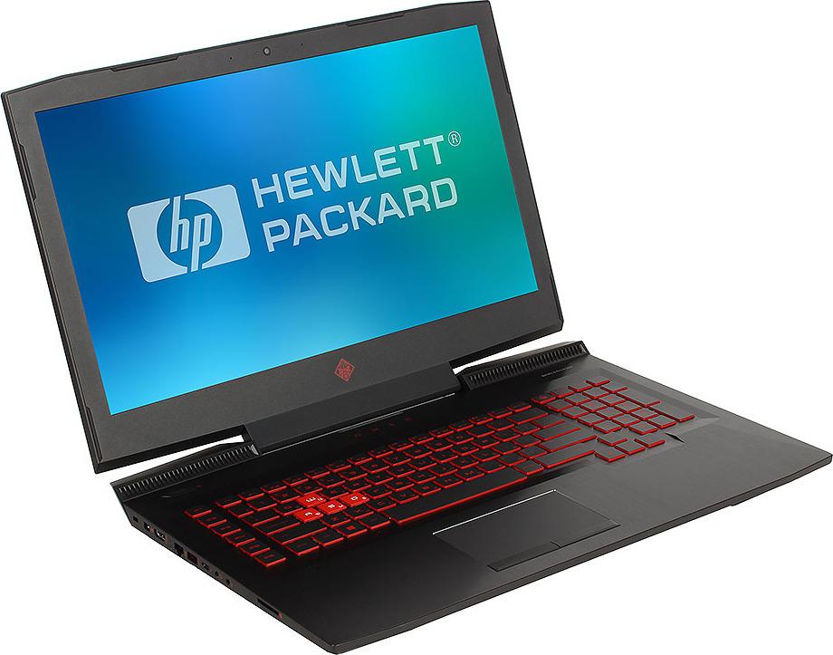 Игровой ноутбук HP Omen 17-an018ur 2CM07EA, черный ноутбук hp 17 ab318ur 2pq54ea core i7 7700hq 8gb 1tb nv gtx 1050ti 4gb dvd 17 3 fullhd win10 black