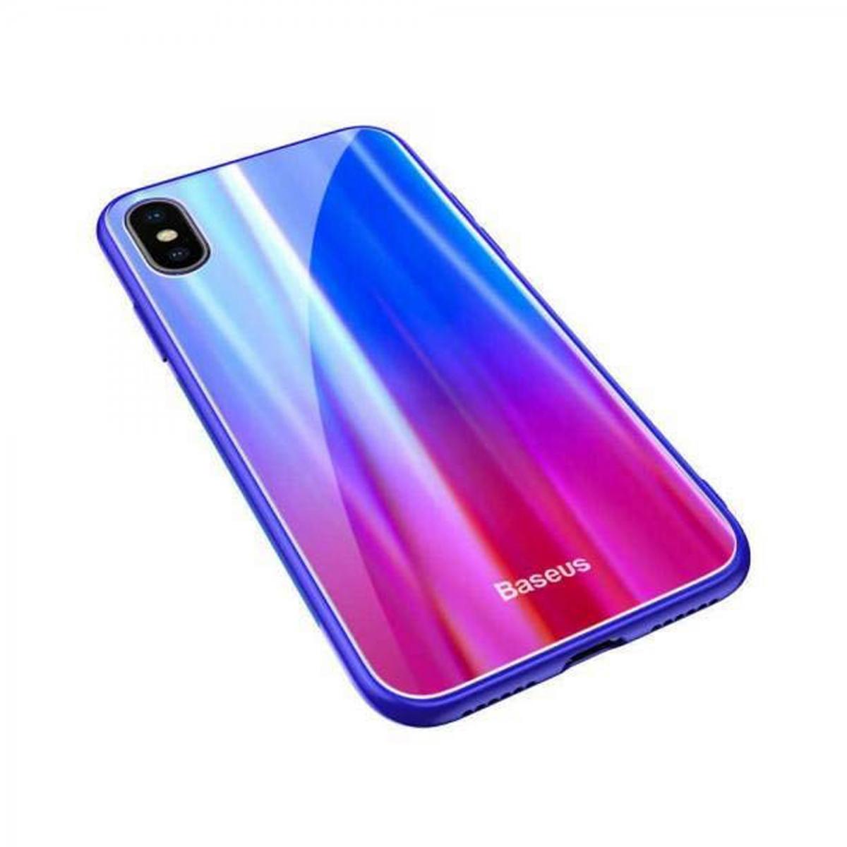 Чехол для сотового телефона Baseus WIAPIPHX-XC39, синий, красный baseus guards case tpu tpe cover for iphone 7 red