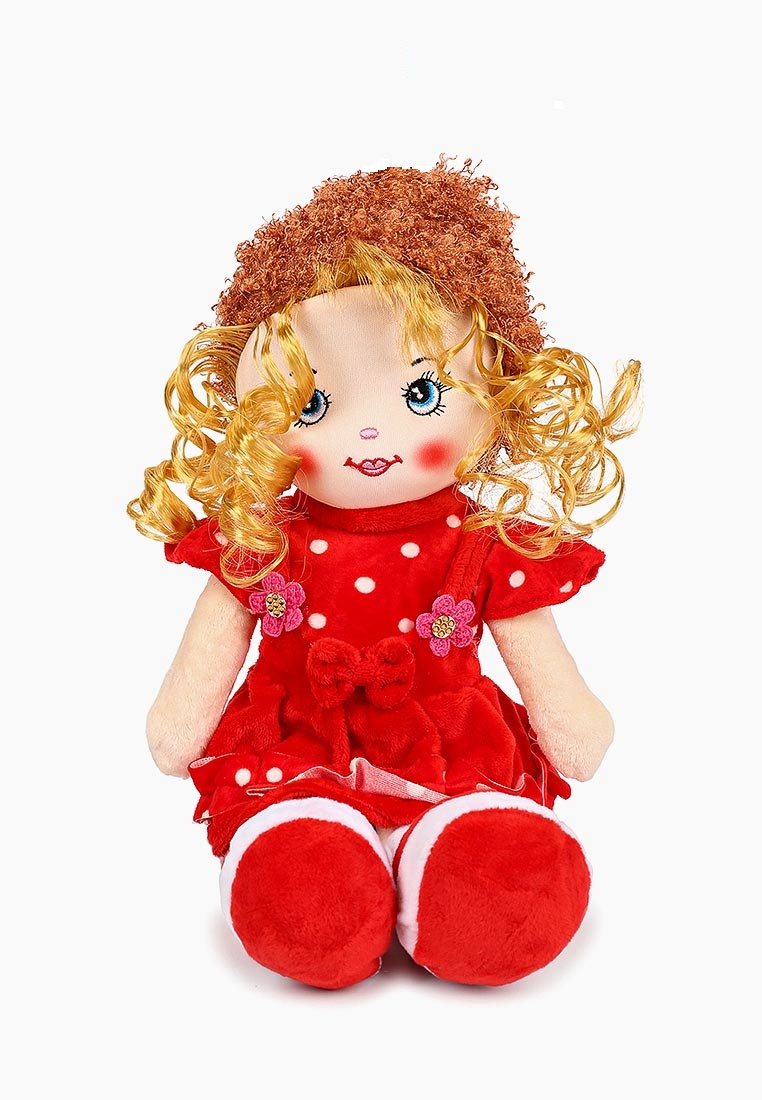 """Мягкая кукла TashaToys Кукла мягкая """"Леся"""". (12х33х8 см) красный"""