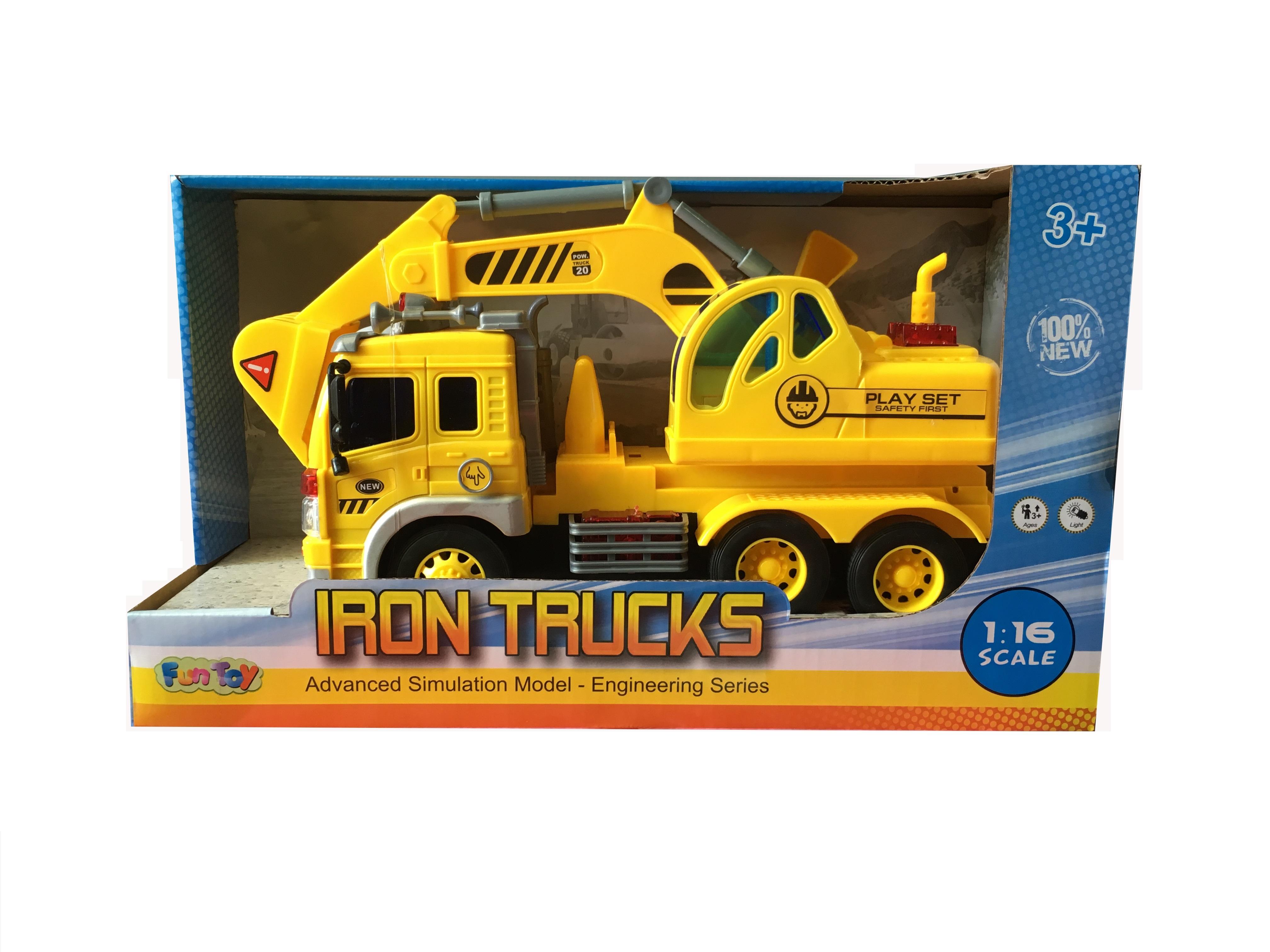 Спецтехника Fun Toy 44404/1 желтый, черный грузовик dave инерционный