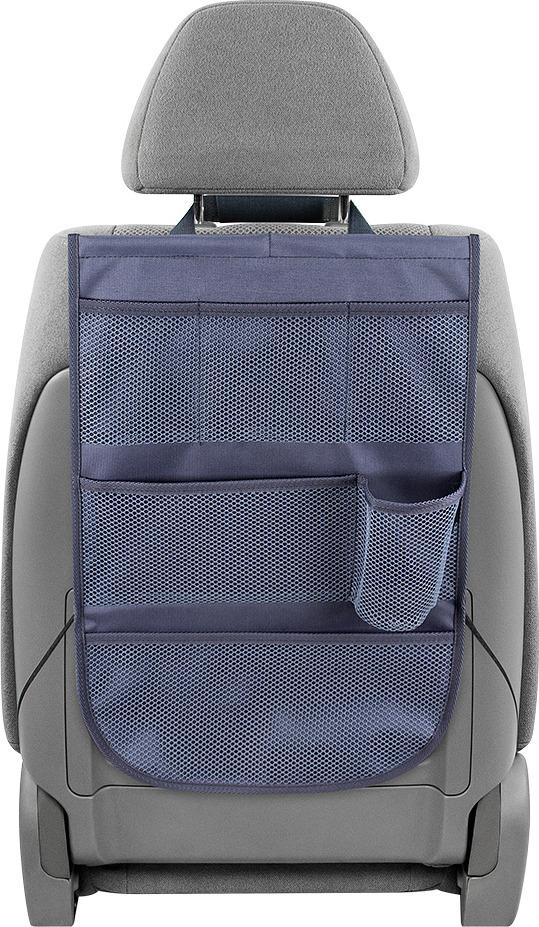 цена на Органайзер на спинку переднего сиденья Comfort Address, серый, 35 х 55 см