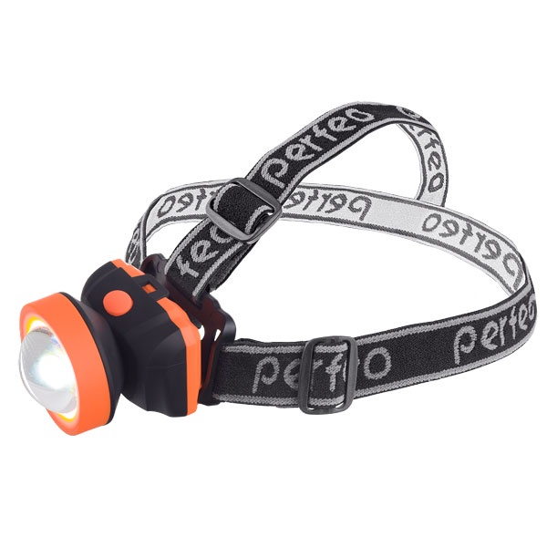 Налобный фонарь Perfeo PF_A4447, черный, оранжевый недорого